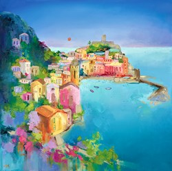 Amalfi Afternoon by Anna Gammans -  sized 24x24 inches. Available from Whitewall Galleries
